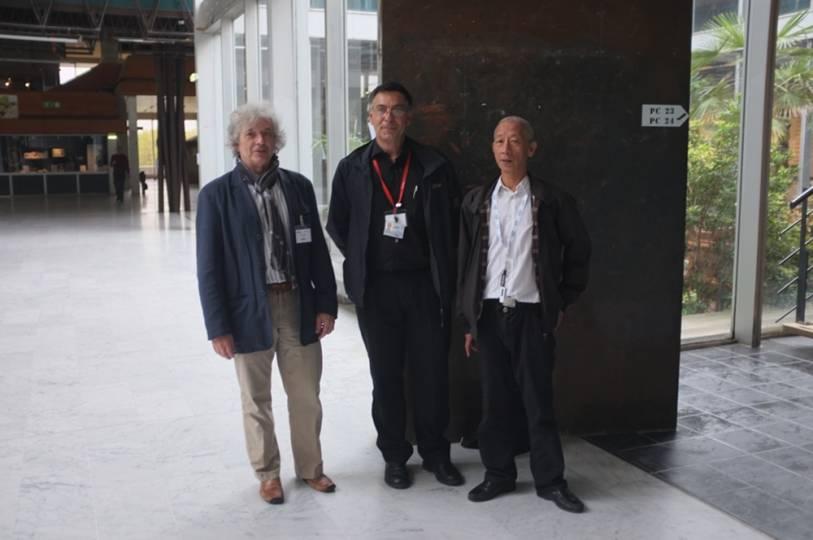 Ph. d'Anfray (CEA, Aristote), M. Ravachol (Dassault-Aviation), T.H. Lê (ONERA)